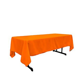 Mantel rectangular de poliéster de lino 60 por 144 pulgadas, naranja