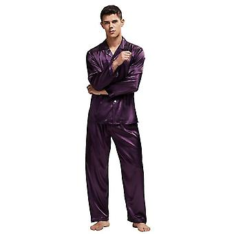Men's Stain Silk Pijama Set Silk Sleepwear Sexy Modern Style Soft Cozy Satin