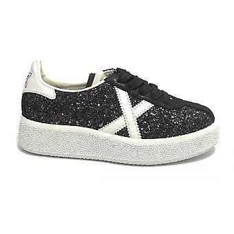 Shoes Women Munich Sneaker Barru Sky Glitter Black Ds21mu03 8295066