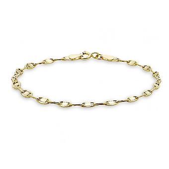 Evigheden 9ct Guld Oval Flat Gucci Style Link Armbånd