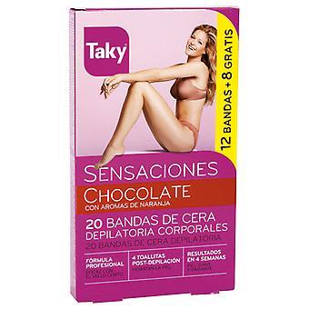 Taky Body Band Hair Removal Chocolate 20 pcs