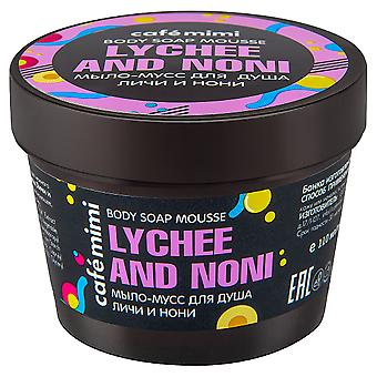 Cafe Mimi Jabón Mousse para la Ducha Lichi y Nonii 110 ml
