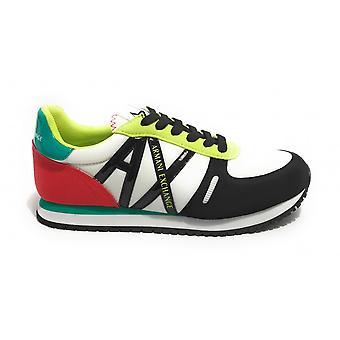 Shoes Women's Armani Exchange Sneaker Nylon/ White Ecosuede/ Multicolor Ds21ax03 Xdx031