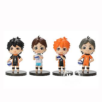 4pcs Figure Set Volleyvall Boy Handsome Toy Doll Anime Collection