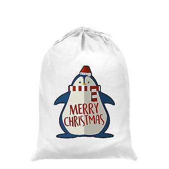 Grindstore Cute Christmas Penguin Santa Sack