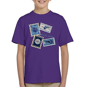 Pan Am Postage Stamps Montage Kid's T-Shirt