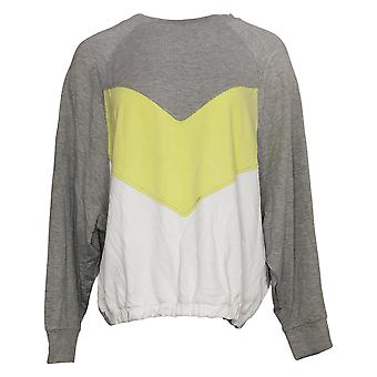 G.I.L.I. tem que amá-lo Women's Sweater Blocked Sweatshirt Gray A374955