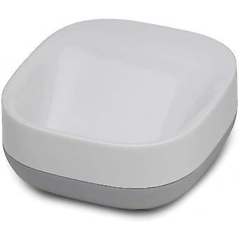 حامل صابون 8.5 سم بولي بروبلين رمادي / أبيض