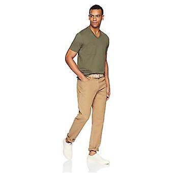 """Goodthreads Men's """"The Perfect V-Neck T-Shirt"""" Short-Sleeve Cotton, Olive, Large"""