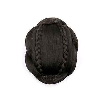 Hair Wig Braided Synthetic Hair Bun Chignon Hairpiece