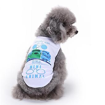 Dog cat clothes small dog vest car pattern spring and summer clothing