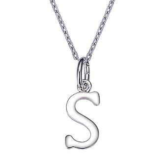 GemShadow Women Girls 925 Sterling Silver Letter Necklace and 925, Color: Letter S, cod. AQEP001755