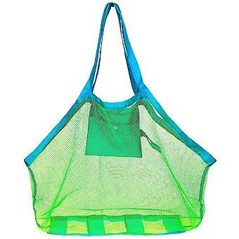 Tragbare Mesh Bag Kinder Strand Spielzeug Kleidung Handtuch Paket große String Tasche Shell Sand Graben Werkzeug Kit Baby Spielzeug Aufbewahrungspaket