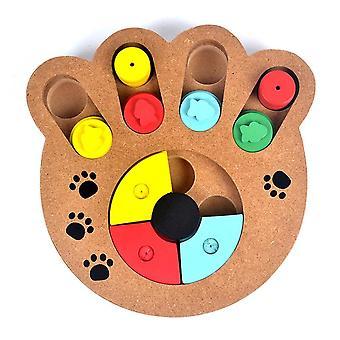 Φυσική τροφή επεξεργασμένα ξύλινα πόδια σχήμα pet σκύλος γάτα IQ εκπαιδευτικά παιχνίδια διατροφής | Παιχνίδια σκυλιών