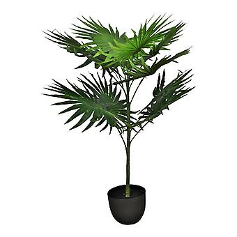 Palma a ventaglio artificiale con 10 foglie, 100Cm