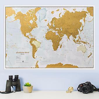 Scratch the World® karttryck (Silk Art Paper - Pack of 2)