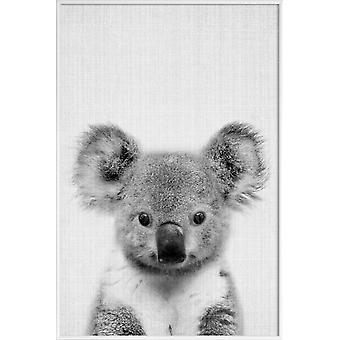 IMPRESión JUNIQE - Impresión 67 - Cartel de Koalas en gris y negro