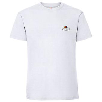 Fruit of the Loom Mens Small Logo Premium Vintage Cotton T-Shirt