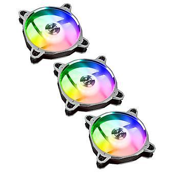 Lian-Li BR120 Digital RGB PWM 120mm Triple Fan Pack with Remote Fan Controller - Silver