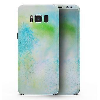 Azul para Verde 4221 Textura de Aquarela Absorvida - Samsung Galaxy S8