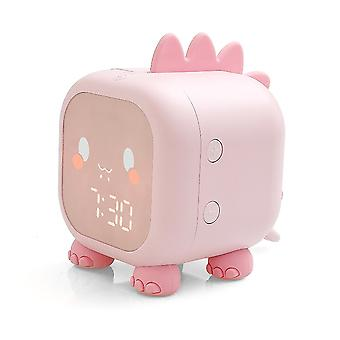 Cute Dinosaur Digital Alarm Clock Bedside Clock Wake Up Night Light Children'S Sleep Trainier