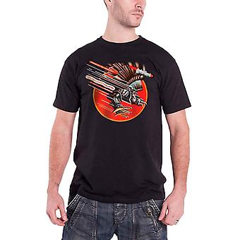 Judas Priest camiseta de hombre negro gritando para vengar logotipo de la banda Oficial