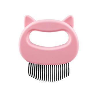 Décapant spécial pour chiens et chats, cheveux longs pour animaux de compagnie et peigne à cheveux courts (rose)