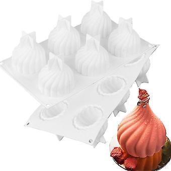 Large Onion Styling Mousse Mold White Whirlwind Cake Mold Baking Diy Chocolate Mold