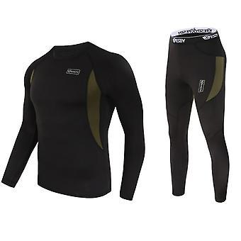 Långa Johns underkläder sätter svett snabbtorkande termiska underkläder män kläder