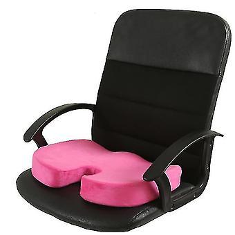 Coussin de siège en mousse à mémoire de forme pour sièges d'auto, bureau à domicile et Coussin de voyage (rouge)