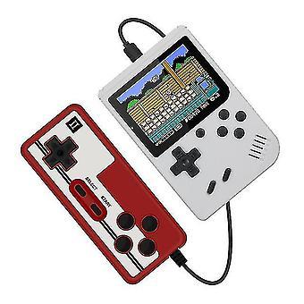 400 in 1 Retro tragbare Handheld-Farb-LCD-Spiel-Player 2-Spieler-Videospielkonsole (weiß)