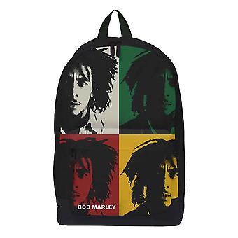 Bob Marley Ryggsäck Väska Pop Art Porträtt Logotyp Ny Officiell Svart