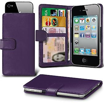 iTronixs - Huawei Gr3 (5 inch) Case Clamp Style Wallet Protective PU Leather Case Cover - Purple