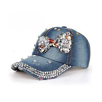 Bowknot farmer baseball sapka strasszos snapback kalap gorra