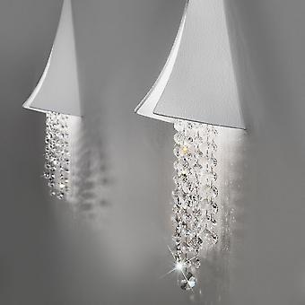 Kolarz FONTE DI LUCE - Integrerad LED Designer Crystal Wall Ljusvit Matt