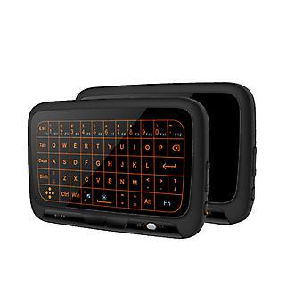 H18 بالإضافة إلى لوحة المفاتيح اللاسلكية المصغرة لوحة اللمس الكامل الهواء ماوس عيد ميلاد هدية