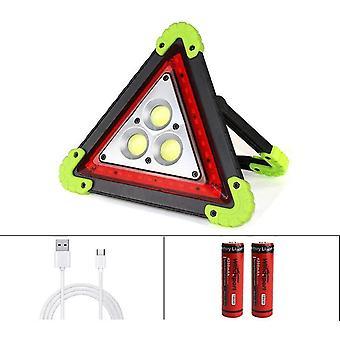 Kolmion muotoinen kannettava tulvalamppu - täky led-hätävalo