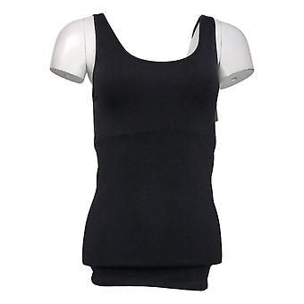 Rhonda Shear Shaper Sem costura Tanque c/Prateleira Bra Black Shapewear 586034