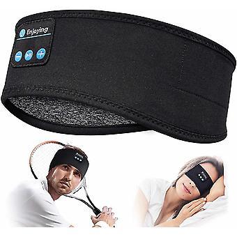 بلوتوث 5.0 سماعات الرأس عصابات الرأس الرياضية النوم تجريب (أسود)