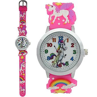 Kids Students Rainbow Unicorn Dinosaur Colourful Silicone Watches