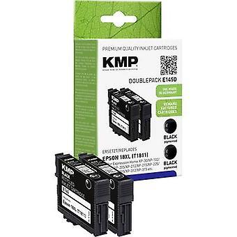 KMP de tinta sustituye Epson T1811, 18XL Compatible Pack de 2 negro E145D 1622,4021