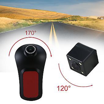 Wifi Hd Night Vision Front&rear Dual Lens Driving Recorder Sem Display
