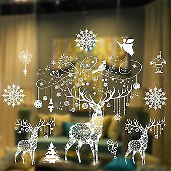 Scandinavian christmas window sticker decorations