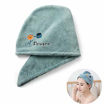 Twist Quick Dry Hair Towel For Wet Hair Dry Hair Cap Quick Dry Towel Absorbent Cap (green