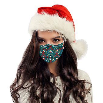 大人普遍的な使い捨ての高品質のクリスマス印刷マスク10pc