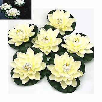 6 stuks kunstmatige drijvende schuim lotus bloemen
