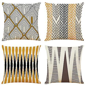 Mile Cushion Covers, Set Of 4 Throw Pillow Case For Home Decor 45x45cm