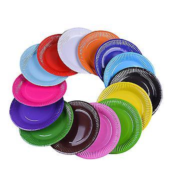 7 אינץ' מגוון צבע צלחות למסיבה