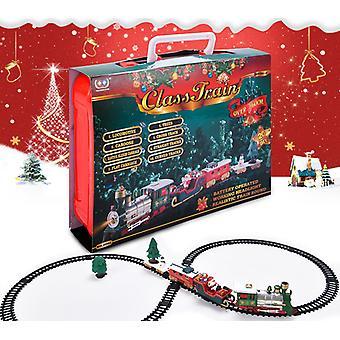 Weihnachts spielzeug Weihnachten Elektrischer Eisenbahnwagen Weihnachtsmann Zug Musik Spielzeug