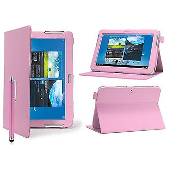 Angle Book Leather case cover for Samsung Galaxy Tab 2 7.0 P3100 + stylus pen - Baby Pink